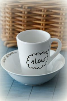 slow down mug and bowl