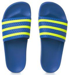 744bb1c39259 Adidas Originals Adilette Flip Flops - Bluebird light Flash Yellow  S15 bluebird