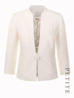 Petite 1 Ribbon Button Jacket