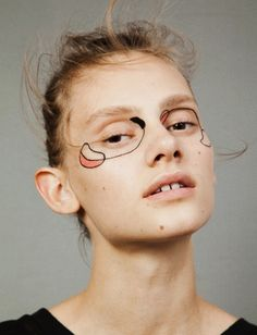 saadi schimmel by masami naruo for volt cafe · editorial · makeup