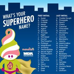 Kid Friendly Superhero Generator