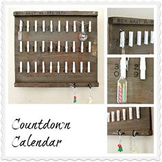 A year-round Countdown Calendar made from a wood crate