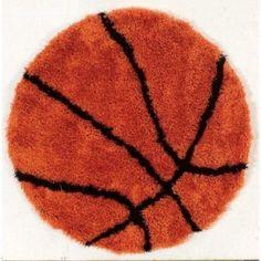 Linon Basketball 4' x 4' Shag Rug - Walmart.com