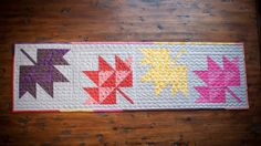 autumn leaves table runner by the cozy pumpkin