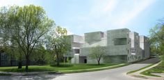 Steven Holl Architects Tops Out Visual Arts Building for University of Iowa