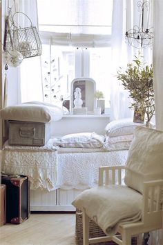 Love all the white linens! ~ Jeanne d'Arc Living Magazine 4th Issue April by DwellAntiques