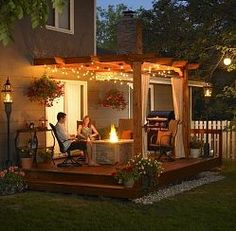 Would love for a second porch or solid cover for when it rains.  Still a sucker for fairy lights!
