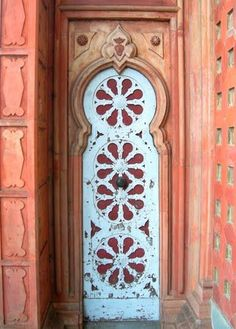 A gorgeous rustic style door from around the world with beautiful colors
