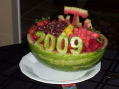 Fruit Basket watermelon for graduation parties this season. | Food ...