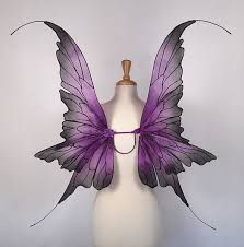 Fairy wings - Amazing for fairy costume, wedding, fairy photography - Purple fairy wings- Handmade - Danielle design Fairy Wings Costume, Fairy Halloween Costumes, Fantasy Costumes, Shades Of Purple, Purple And Black, Fairy Photography, Gossamer Wings, Fairy Dust, Ornament