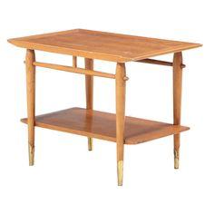 "Lane ""Copenhagen"" Mid Century Modern Walnut End Table | EBTH Metal Trim, Mid Century Modern Furniture, Copenhagen, End Tables, Mid-century Modern, Home Decor, Mesas, Decoration Home, Room Decor"