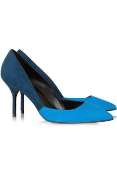 Pierre Hardy  Two-tone pointed suede pumps