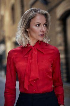 6477bead6c19f Women s Boutique Red Spot Jacquard Semi-Fitted Shirt - Single Cuff