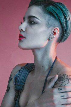 Shaved Pixie Haircut for Badass Woman