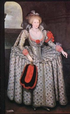 1605-1610 Anne of Denmark by Marcus Gheeraerts the Younger (Woburn Abbey - Woburn, Bedfordshire UK) | Grand Ladies | gogm