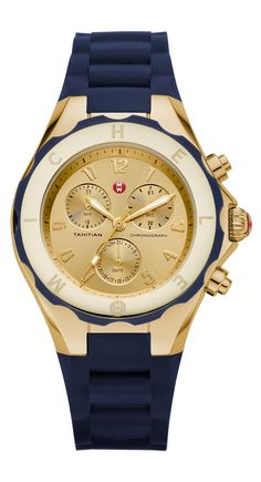 Hadn't considered a navy and gold watch until now. Yes please!