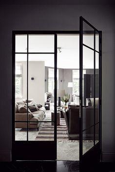 Black Steel Doors.