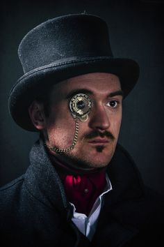 Nice Monocle! A steampunk style self portrait by Robin Neilly in 500px