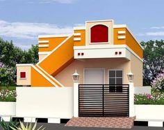 Art Gallery Architecture Elevation 33 Ideas For 2019 Village House Design, Bungalow House Design, Village Houses, Duplex House, Front Elevation Designs, House Elevation, Single Floor House Design, House Outside Design, Indian Home Design