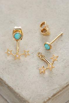 Stars Align Front-Back Earrings