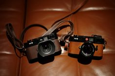 Leica M8 and M9 in Hermes leather