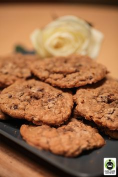 Browned Butter Oatmeal Chocolate Chip Cookies #FairTrade #recipe