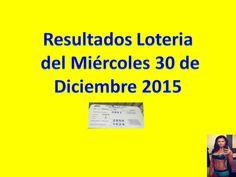 Resultados Sorteo Miercoles 30 de Diciembre 2015 Loteria Nacional de Panama