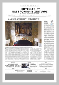 Michael Gollong – Hotellerie et Gastronomie Zeitung No. 20-2011.