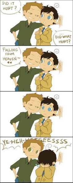 So I don't ship destiel,but this is so adorable!