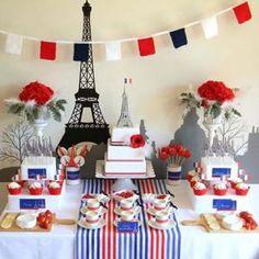 Paris Birthday, Winter Birthday, 60th Birthday Party, Birthday Ideas, Paris Party, Paris Theme, Valentinstag Party, French Themed Parties, Bastille Day
