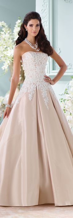 The David Tutera for Mon Cheri Spring 2016 Wedding Gown Collection - Style No. 116217 Alleen  #ballgownweddingdress