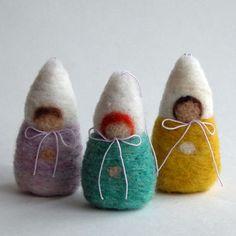 DIY  Needle Felted Winter Children Baby Gnomes by handworkstudio, $4.00