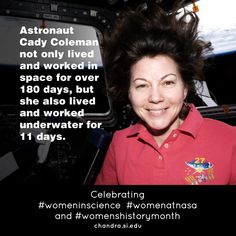 Learn more about Cady and women at @NASA: http://chandra.harvard.edu/blog/node/529  #womeninscience #womenatnasa #womenshistorymonth