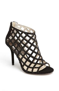 MICHAEL Michael Kors Black Sequin Bootie --- I dont know why they called this a bootie, it's more like a Cage Heel to me. Cheap Michael Kors, Michael Kors Shoes, Handbags Michael Kors, Michael Kors Black, Mk Handbags, Cute Shoes, Me Too Shoes, Awesome Shoes, Jet Set