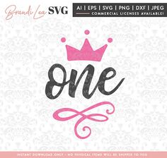 1 year old, first birthday svg, 1 year old, birthday, crown, party, svg, dxf, eps, Quote SVG, Cut File, Cricut, Silhouette, Instant download