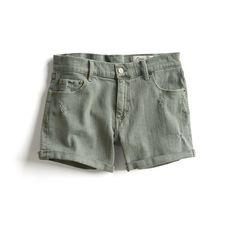 Stitch Fix Stylist Picks: Olive green distressed shorts