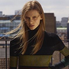 SUNO Fall 2015 Printed Stripe Turtleneck featured in Suitcase Magazine.