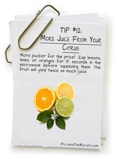 More Juice From Your Citrus (for my lemon water! )