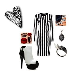 """""""BLACK AND WHITE"""" by kriziao ❤ liked on Polyvore"""