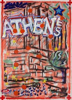 """Saatchi Art Artist Borai Kahne Ateliers; Painting, """"European Capital Cities - Athen"""" #art"""