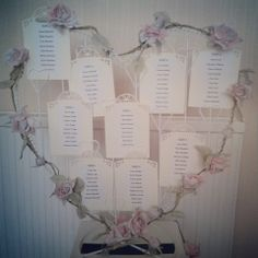 Our wedding table plan