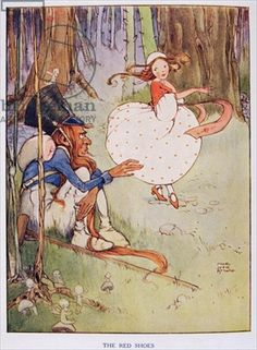 the red shoes fairy tale | The Red Shoes, from Hans Andersens Fairy Tales, by Hans Christian ...