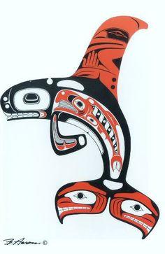 Northwest Coast Art Native HaidaYou can find Haida art and more on our website. Inuit Kunst, Inuit Art, Arte Haida, Haida Art, Arte Tribal, Tribal Art, American Indian Art, Native American Art, Tatouage Haida