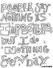 Printable Quote Coloring Pages - Coloring Panda | ADULT Coloring ...