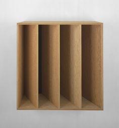 "Donald Judd - Untitled Douglas Fir plywood with brown Plexiglas, 39-3/8"" x 39-3/8"" x 19-5/8"" (100 cm x 100 cm x 50 cm), 1989, © Judd Foundation. Licensed by VAGA, New York, NY / Photo by: Ellen Page Wilson"