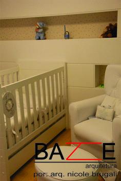 Dormitório de bebê... pronto para absorver o crescimento da criança.
