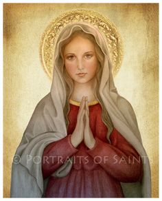 Mary, Mother of God Catholic Art Print Blessed Virgin Mary, Our Lady