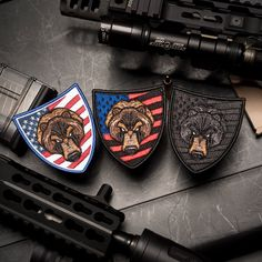 Show your patriotism and support for the Amendment with our ALL NEW Bear Modern Arms set. Limit 3 sets per person! Cool Tactical Gear, Tactical Patches, Digital Photo Printer, Police, Royal Photography, We Bear, Print Your Photos, M Photos, Cool Patches