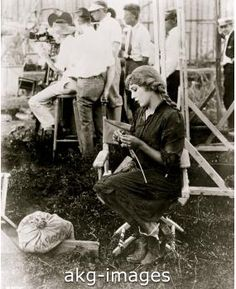 Mary Pickford knitting for the Red Cross, 1925