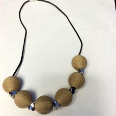 Twine Ball and Hearts Necklace Twine, Beaded Necklace, Hearts, Jewelry, Products, Beaded Collar, Jewlery, Pearl Necklace, Jewerly